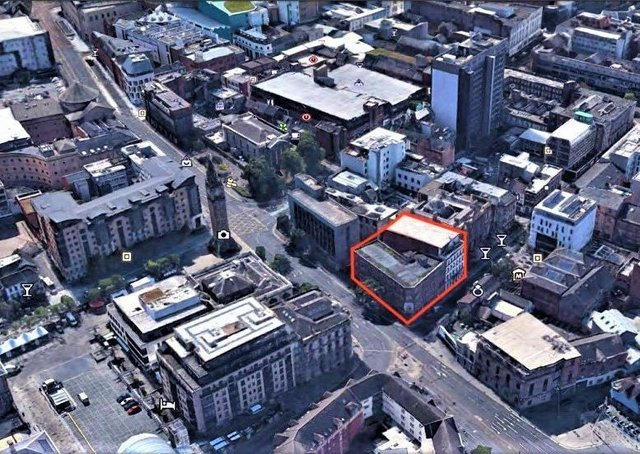 The exact spot earmarked for development (in red)