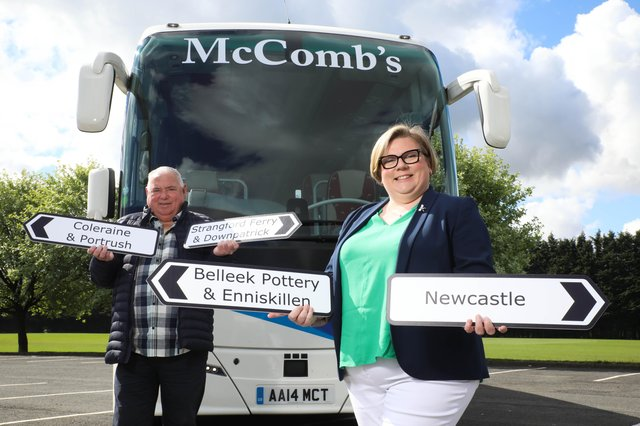 Rodney and Caroline McComb of McComb's Coach Travel