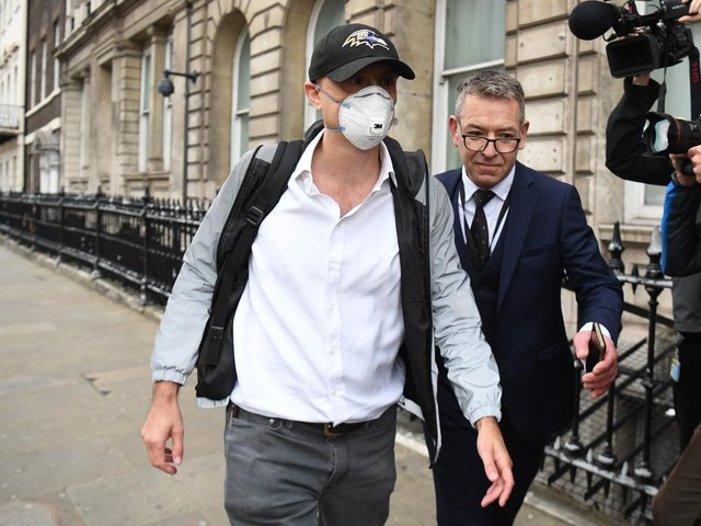 Dominic Cummings (left), former Chief Adviser to Prime Minister Boris Johnson, arriving at Portcullis House, central London, to give evidence to a joint inquiry of the Commons Health and Social Care and Science and Technology Committees on the subject of Coronavirus: lessons learnt.