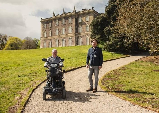 Volunteer Paul McConnell pictured with Neil Watt, collections and house manager at Castle Ward