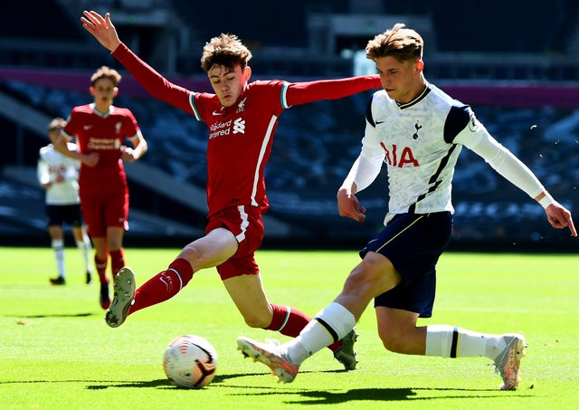 Liverpool's Conor Bradley has been called up to the Northern Ireland team for the first time. (Photo by Tom Dulat/Getty Images)