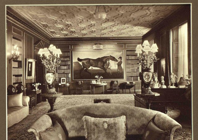 Interior of Londonderry House, Park Lane, London c.1920s. Note the painting of 'Hambletonian, Rubbing Down' by Stubbs, which now hangs in Mount Stewart, Co Down. Picture courtesy of Lady Rose Lauritzen and the Deputy Keeper of the Records, Public Record Office of Northern Ireland. PRONI reference: D4567/2/23Interior of Londonderry House, Park Lane, London c.1920s. Note the painting of 'Hambletonian, Rubbing Down' by Stubbs, which now hangs in Mount Stewart, Co Down. Picture courtesy of Lady Rose Lauritzen and the Deputy Keeper of the Records, Public Record Office of Northern Ireland. PRONI reference: D4567/2/23
