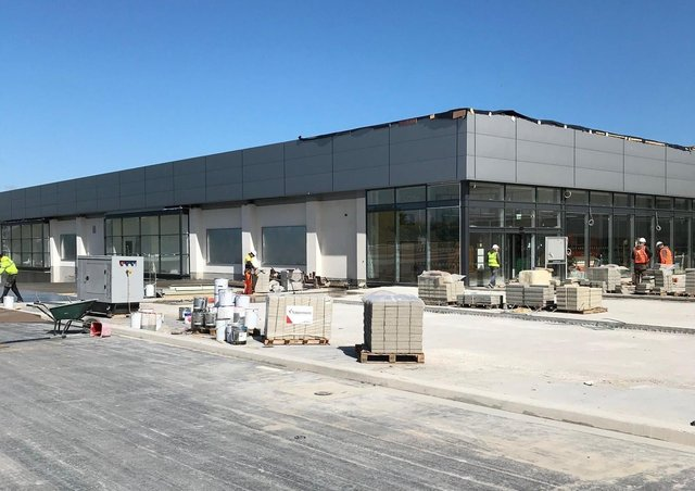 Final days of construction of Lidl in Portadown. Work was carried out by local firm Turkington Construction.