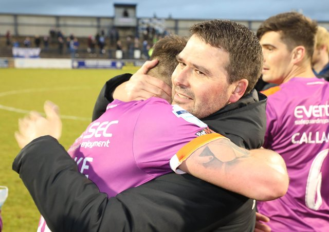 Linfield manager David Healy after watching his side secure double success. Pic by PressEye Ltd.