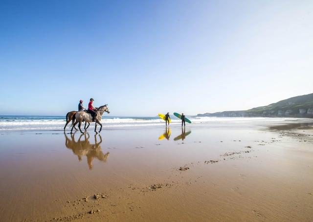 Northern Ireland basking in the sun, Scenes on Whiterocks Beach Portrush, Co Antrim.Pic Steven McAuley/McAuley Multimedia