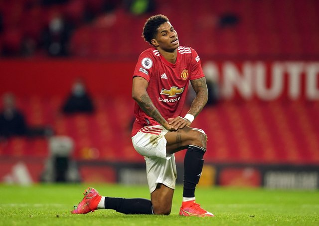 Manchester United's Marcus Rashford .
