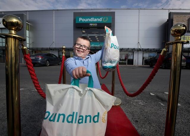 Jack celebrates the launch fo Poundland's new Charitable Foundation