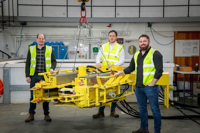 Nick McNally, Commercial Director, Decom Engineering with Matthew Drumm, BD Manager, Decom Engineering and Sean Conway, Managing Director, Decom Engineering