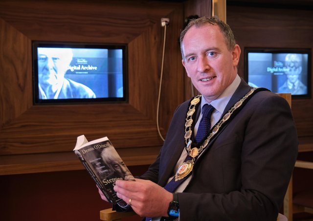 Councillor Cathal Mallaghan at the refurbished Seamus Heaney HomePlace