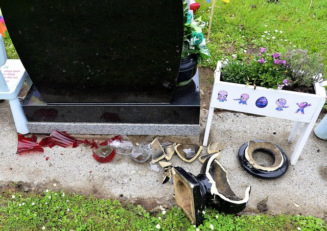 Police in Newtownabbey received a report that a number of graves had been damaged in Carnmoney Cemetery. Picture by: Arthur Allison, Pacemaker.