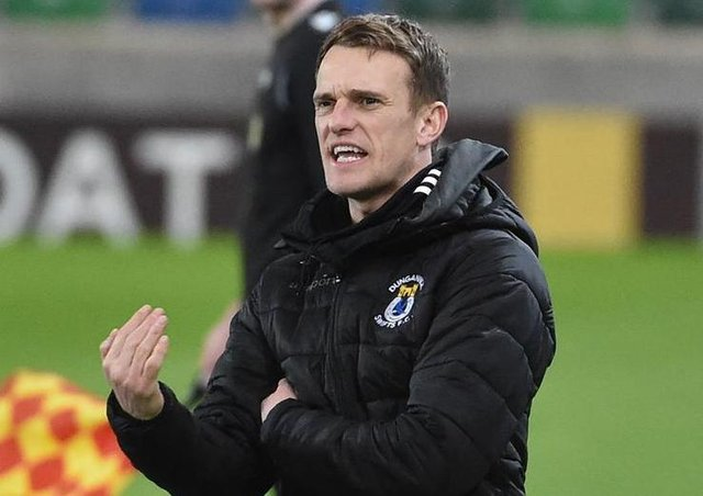 Dungannon Swifts manager Dean Shiels. Pic by Pacemaker