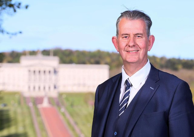 """The new DUP leader Edwin Poots. He writes: """"Devolved government in Northern Ireland should not be used as a bargaining chip. Progress must be made here but threatening Stormont is not a victimless crime"""""""