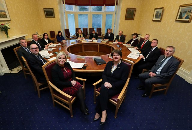 The newly-formed Stormont government, January 2020, following the striking of the New Decade New Approach deal