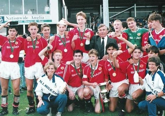 Manchester United's 1991 Milk Cup winning sidef eatured a host of stars including  David Beckham, Paul Scholes, Nicky Butt, Gary Neville, Robbie Savage and Northern Ireland winger, Keith Gillespie.