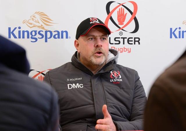 Ulster Rugby's head coach Dan McFarland.