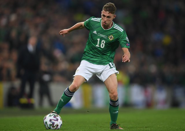 Northern Ireland's Gavin Whyte. (Photo by Mike Hewitt/Getty Images)