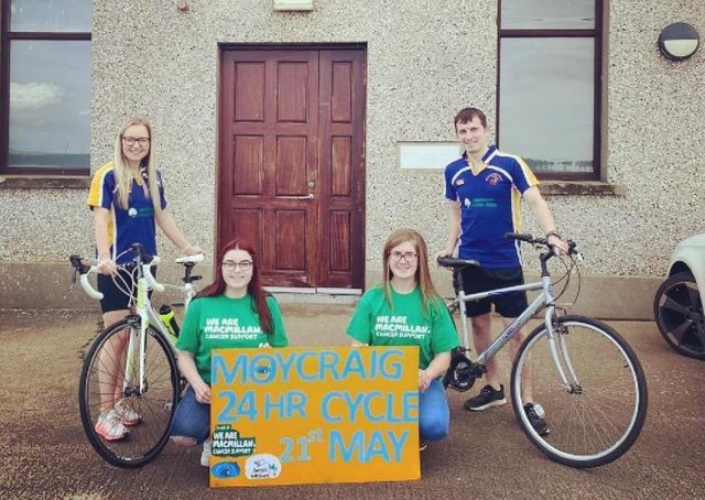 Left to to right, Rachel Smith, Ellie Henry,  Courtney McMullan and Craig Henry