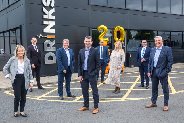 Celebrating 20 years in business are the sales team at Drinks Inc with Musgrave wholesale director, Richard Mayne