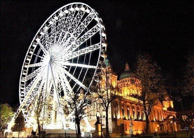 The big wheel at Belfast City Hall; a smaller model is now to open in Botanic Gardens in a few weeks' time