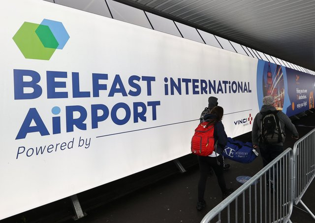 The attack happened at Belfast International Airport