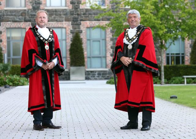 Mayor, Cllr Billy Webb (right) and Deputy Mayor, Cllr Stephen Ross.