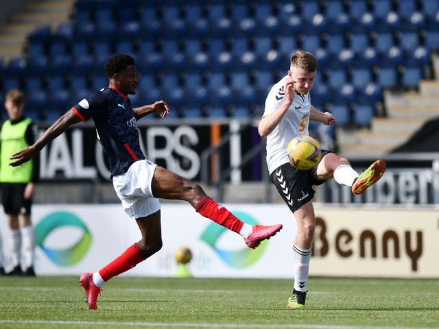 Sam Roscoe (right) in action for Ayr United