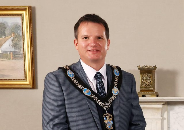 The new Lord Mayor of Armagh City, Banbridge and Craigavon Borough Alderman Glenn Barr. Photo: Kelvin Boyes / Press Eye.