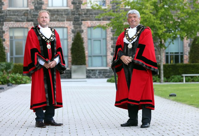 Mayor, Cllr Billy Webb (right) And Deputy Mayor, Cllr Stephen Ross