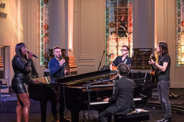 Mica Paris, Gary Barlow, Tom Fletcher, Jamie Cullum and James Bay