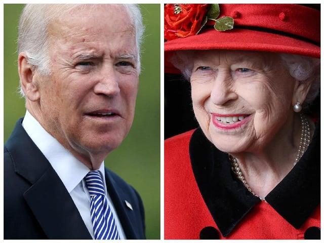 President of the United States, Joe Biden and Queen Elizabeth II.