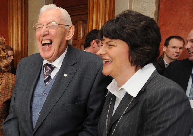 Peter Robinson has revealed his role in pressuring Ian Paisley to retire – but said Arlene Foster's removal was savage