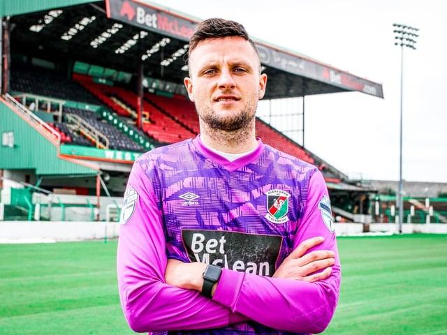 Ross Glendinning has joined the Glens. PICTURED COURTESY OF GLENTORAN FC