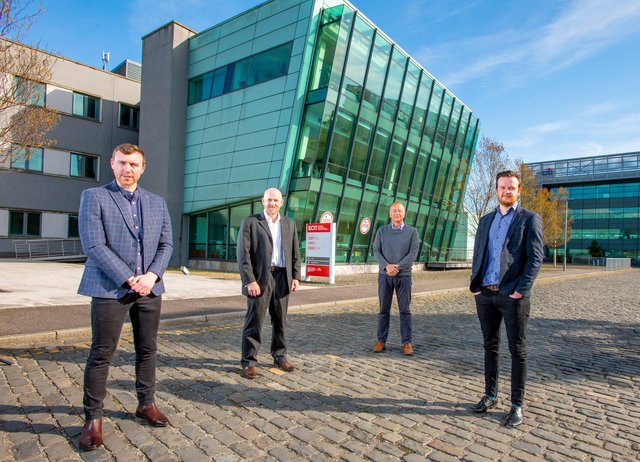 Oisin Lappin, Corporate Finance Manager at QUBIS, Co Founder of AntennaWare Dr Gareth Conway, Hal Wilson partner at TechStart Ventures, Co Founder of AntennaWare Dr Matthew Magill