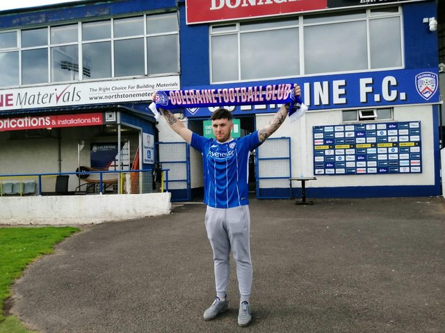 Cathair Friel has signed a three-year contract with Coleraine