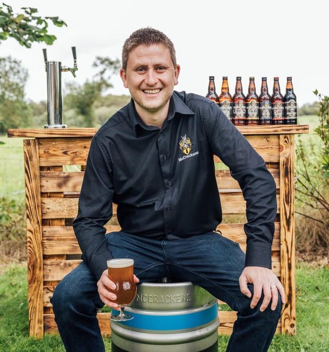 Ryan McCracken, the owner of McCracken's Real Ales in Portadown