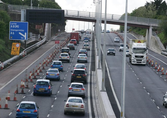 Roadworks on the M2 motorway in August 2009. Picture: Brian Little/News Letter archives