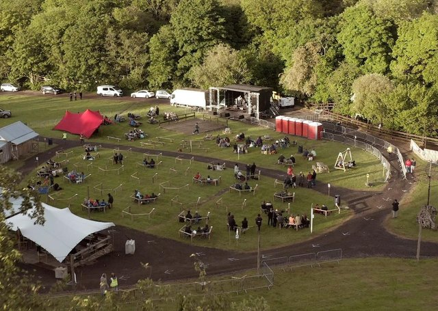 The socially distanced outdoor concert at Ballymully Cottage Farms near Limavady on Saturday