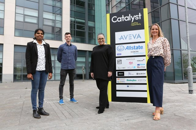 Kavitha Kalavoor Gopalan and Patricia Kelpie from Star 3 Group Ltd, Eamonn McNutt from Moving More and Jacqueline McCann, Co-Founders Programme Manager at Catalyst