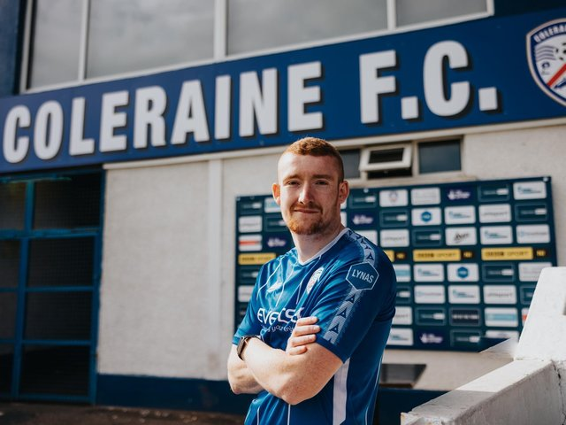Rodney Brown has signed a three-year contract with Coleraine. PICTURE: David Cavan