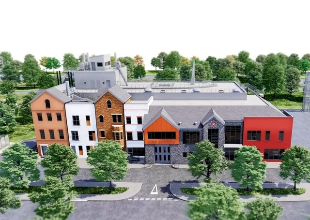 An artists' impression of what Phase Two of the NI Fire & Rescue Service base in Cookstown will look like.
