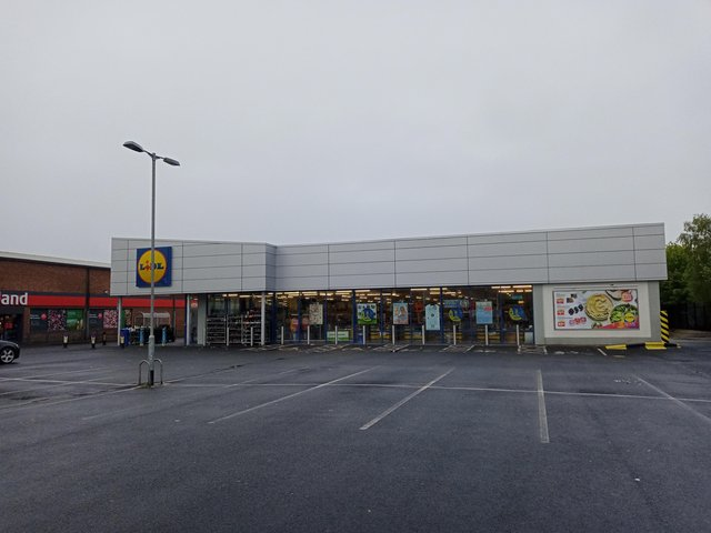 The current LIDL store on Buncrana Road is still operating
