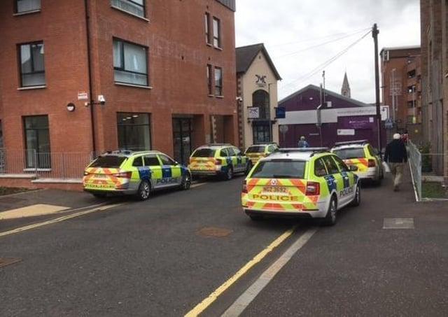 Arrest at Wardsborough Road apartments in Lisburn on 8 June 2021