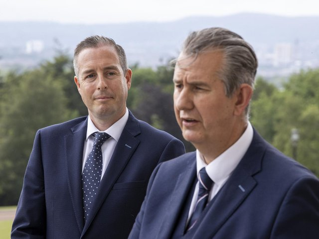 New DUP leader, Edwin Poots (right) and new First Minister designate, Paul Givan.