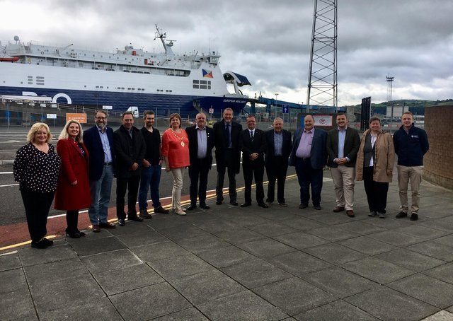 A Scottish council delegation from Dumfries and Galloway welcomed to Mid and East Antrim in August 2019