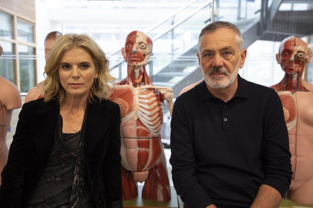 Emilia Fox and Professor David Wilson