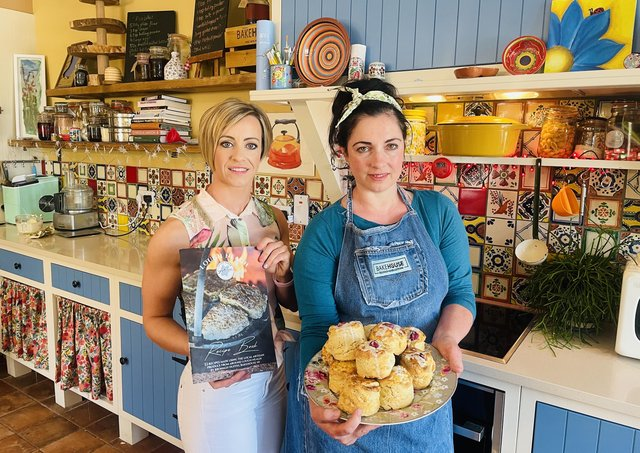 Celebrating the launch of Lough Neagh Artisans Recipe Book, with a picnic ahead of International Picnic Day on 18 June, are Eimear Kearney of Lough Neagh Partnership and Bronagh Duffin of Bakehouse, Bellaghy. www.loughneaghartisans.com