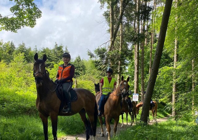 Members of East Antrim's equestrian community held a peaceful demonstration at the reservoir.