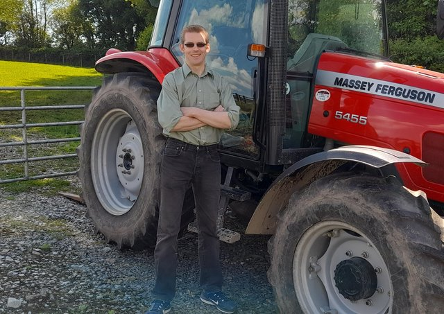 John O'Kane on the family farm