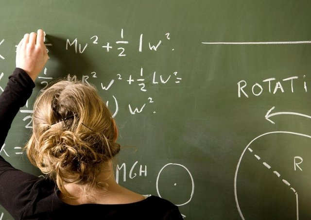 Generic picture of teacher at the blackboard