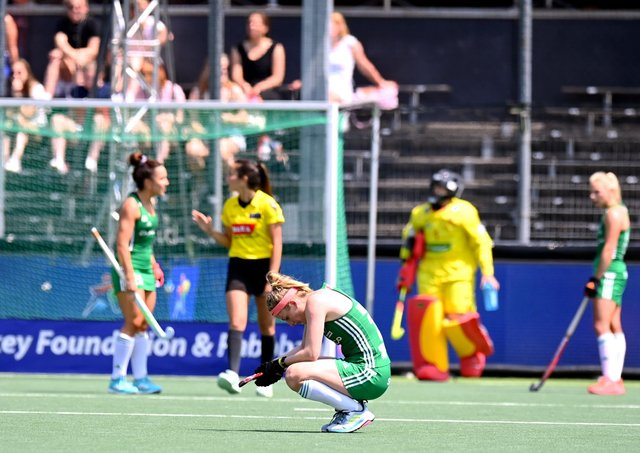 Ireland fell short in their bid to reach the Women's EuroHockey semi-finals after a 1-1 draw against Spain. WORLDSPORTPICS COPYRIGHT FRANK UIJLENBROEK